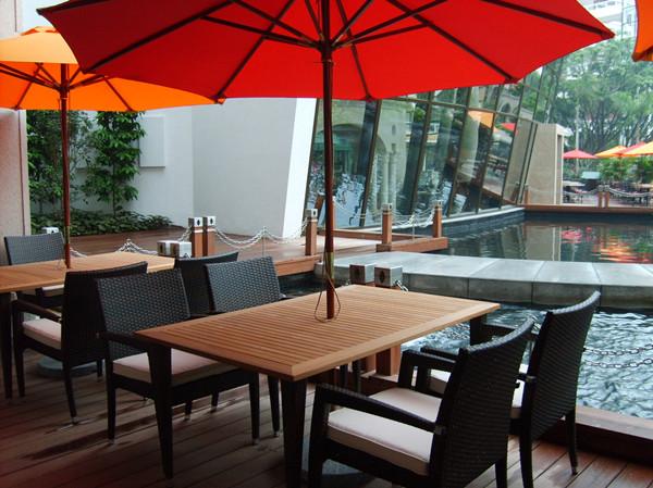 藤艺休闲椅,柚木户外桌椅