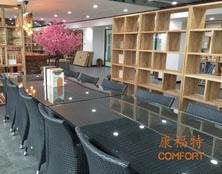 河北沧州邮政局选购康福特户外桌椅
