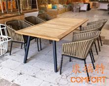 台湾米雅家具定制餐厅户外织带椅