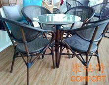 客户加单澳门郭小姐再次订购星巴克户外桌椅