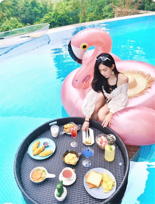 巴厘岛同款悬浮早餐托盘餐盘制作生产厂家