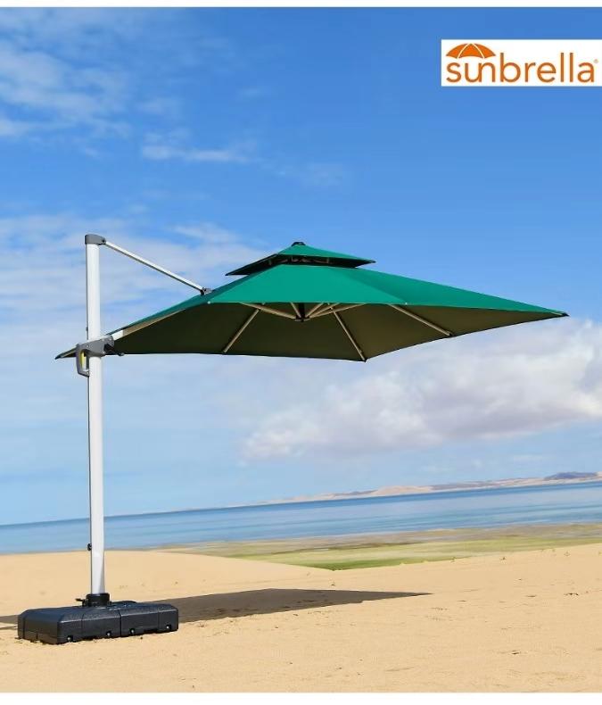 美国布Sunbrella豪华太阳伞香港欧风伞休闲遮阳伞沙滩太阳伞