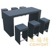 藤编家具,藤编吧台,藤制桌椅组合09015