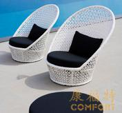 欧式时尚编藤躺椅,藤编家具,泳池家具09006
