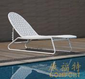 编藤躺椅,泳池休闲椅,40701
