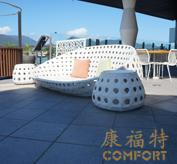 DEDON户外家具|编藤圆床|泳池躺椅