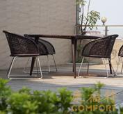 阳台编藤桌椅/藤编桌椅,40802