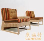 咖啡厅桌椅,藤编沙发,12207
