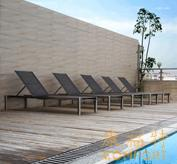 康福特欧式泳池躺椅/编藤躺椅