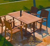 户外实木桌椅,柚木桌椅