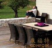 编藤柚木桌,户外休闲椅,欧式藤椅