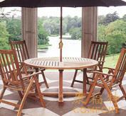 户外实木家具/实木桌椅套装|柚木桌椅|太阳伞