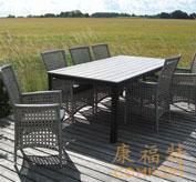 藤艺家具,藤编桌椅,花园桌椅,32055F