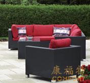 藤编家具,80016户外仿藤沙发,组合沙发