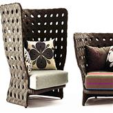 藤编沙发,DEDON创意藤椅,13011