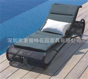 泳池躺椅,编藤躺床,欧式躺椅