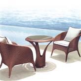 13005咖啡厅户外仿藤椅,时尚休闲编藤家具