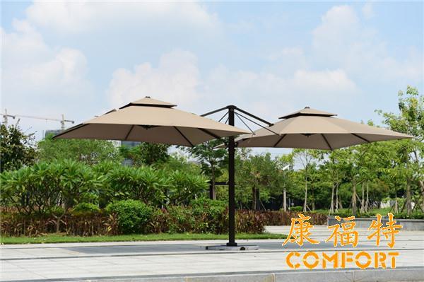 罗马伞双头太阳伞,户外豪华伞