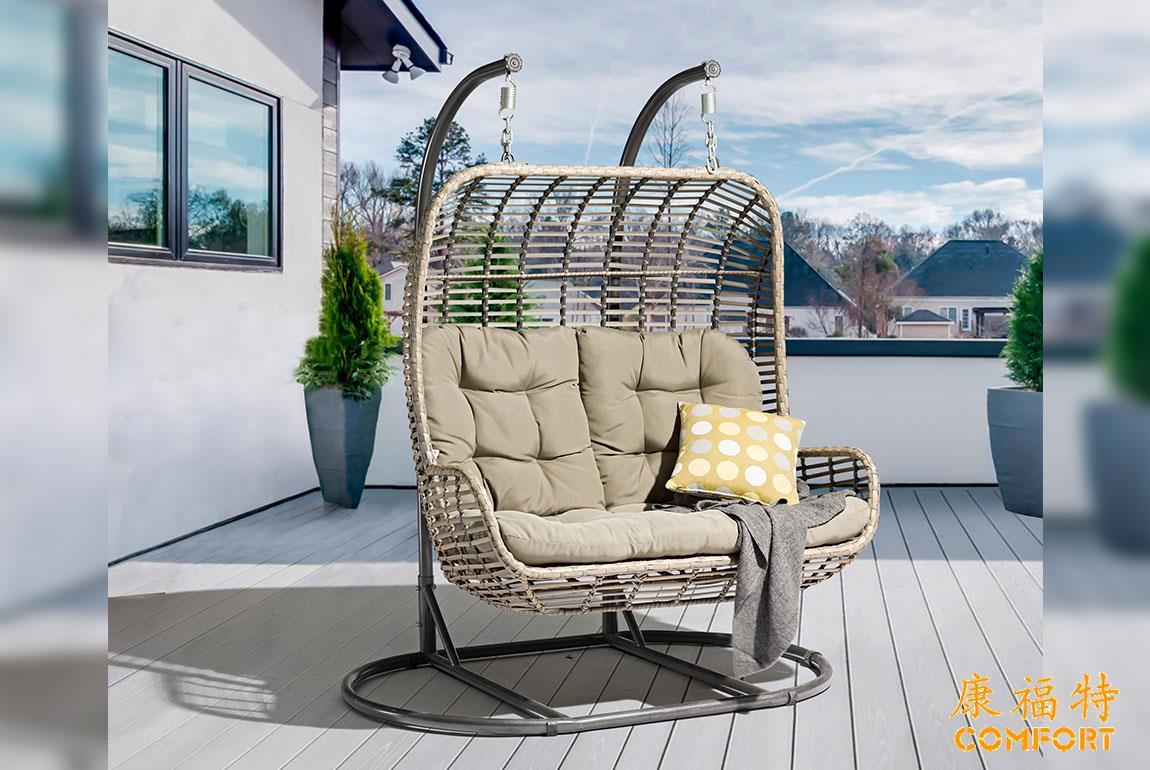 酷设阳台露台别墅庭院户外双人秋千吊椅吊篮
