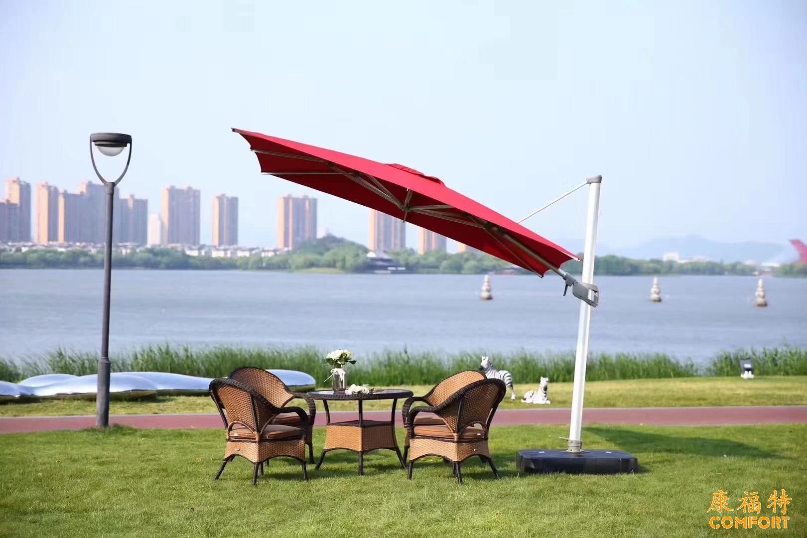 康福特盛世欧风伞,美国Sunbrella太阳伞,户外品牌太阳伞