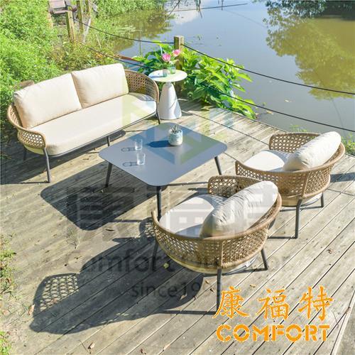 简欧风现代户外生活休闲沙发,户外休闲家具推荐