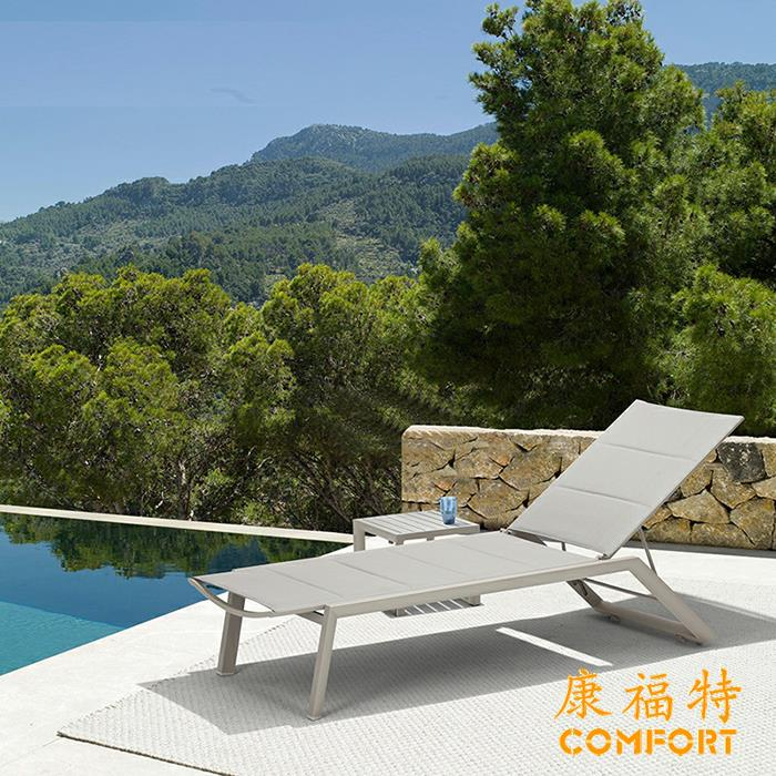 欧式躺椅酒店户外泳池沙滩椅套装