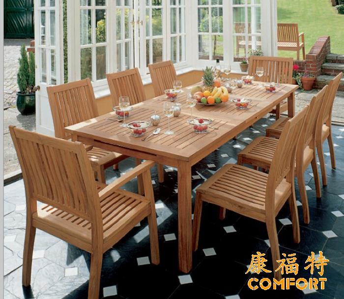 户外柚木桌椅套装,酒店别墅选用