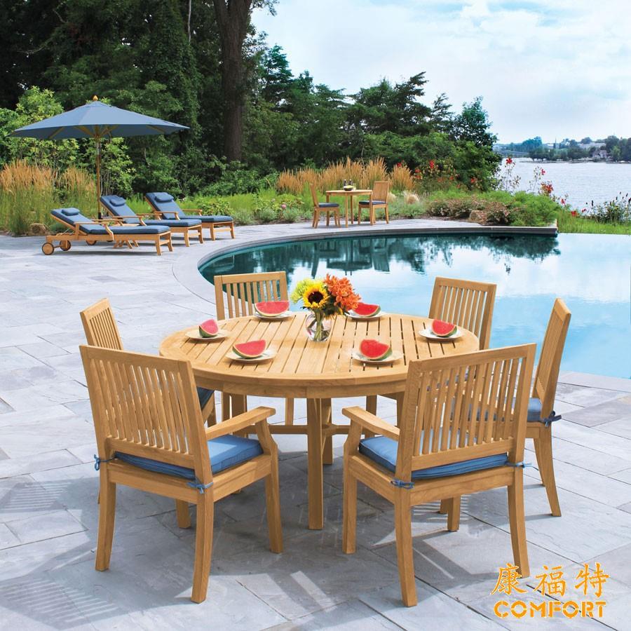 户外柚木桌椅别墅花园柚木桌椅组合